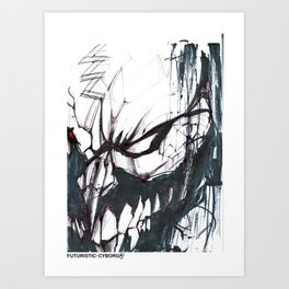 Futuristic Cyborg 2 Art Print