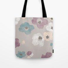 Watercolor Blooms - in Taupe Tote Bag