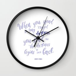 A court of mist and fury (purple) Wall Clock
