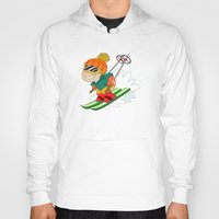 skiing Hoodies featuring Winter Sports: Skiing by Alapapaju