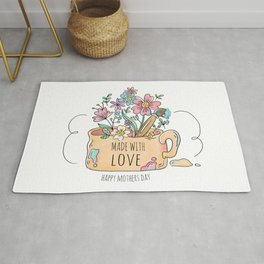Happy Mother's Day - Made with Love -  Rug