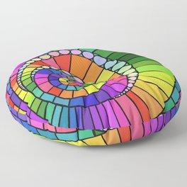 Rainbow Spiral Floor Pillow