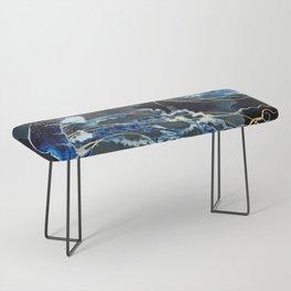 Metallic Ocean III Bench