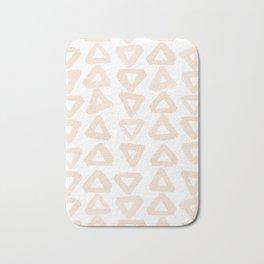 Blush Triangles Bath Mat