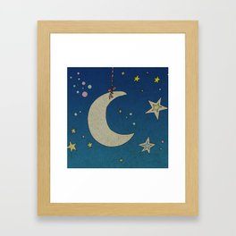 Moon Hanging Framed Art Print