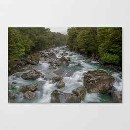 Waterfall, New Zealand Canvas Print