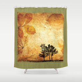 Fine Art of The Falling Tree of My Homeland Shower Curtain