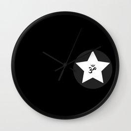 Om Star Wall Clock