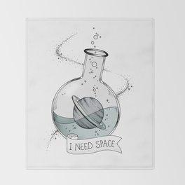 I Need Space Throw Blanket