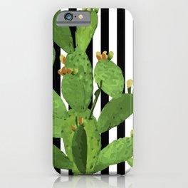 stripe succulent Plants iPhone Case