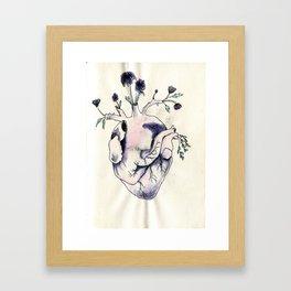 Garden of Flowers growing in my heart Framed Art Print