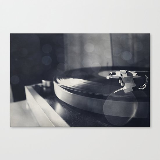 from time to time i like listening to an old record Canvas Print