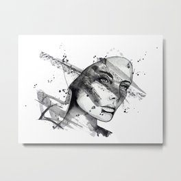 Miriam by carographic Metal Print