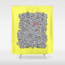 Stand Out & Be Herd Shower Curtain