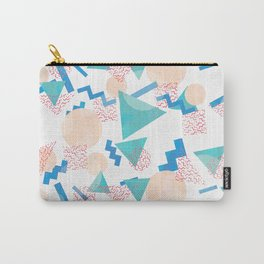 90's Pastel Geometric Pattern Carry-All Pouch
