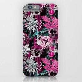 Flowers glitch iPhone Case