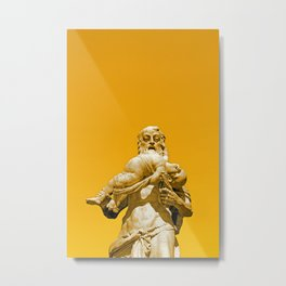 Saturn Statue - Nymphenburg Palace - Munich Metal Print