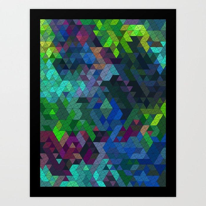 Soft Mini Triangles Art Print