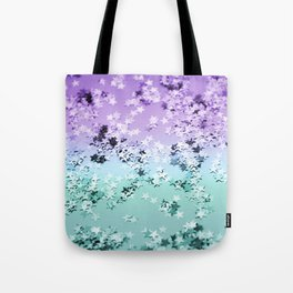 Mermaid Lady Glitter Stars #4 #shiny #decor #art #society6 Tote Bag