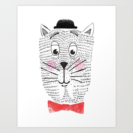 CAT IN A BOWTIE Art Print
