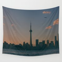 toronto Wall Tapestries featuring Toronto Island by Cxnnxr