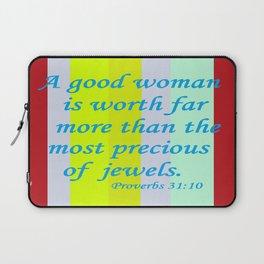 A Good Woman Laptop Sleeve