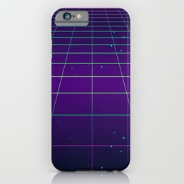 Cyberpunk Grid Lines Aesthetic iPhone Case
