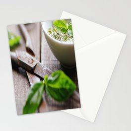 Herbs Kitchen still life from Basil Stationery Cards
