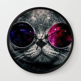 swag cat art colour sticker case iphone cover hot style 2018 love cute Wall Clock