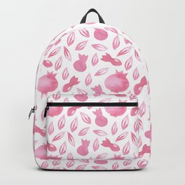 Pink Watercolour Pomegranate Simple Pattern Backpack