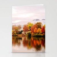 north carolina Stationery Cards featuring Lake Junaluska, North Carolina by Mary Timman
