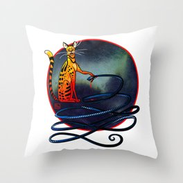 Ra and Apep Throw Pillow