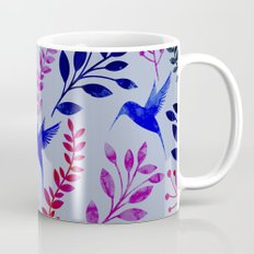 Watercolor Floral & Birds Mug