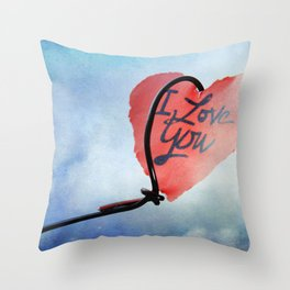 Heart in sky Throw Pillow