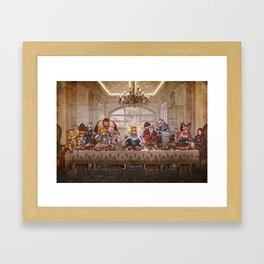 Last supper: Fate grand Framed Art Print