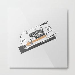 Porsche 908 Top Metal Print