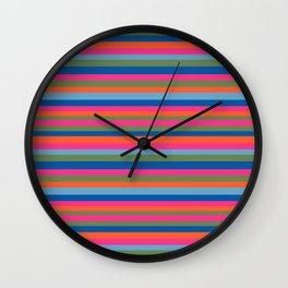 Fall Candy Stripes Wall Clock