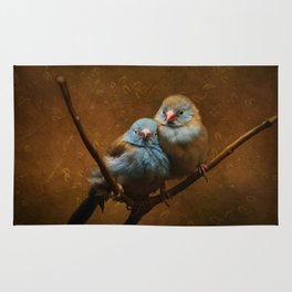 Male and Female Cordon Bleu Canaries Rug