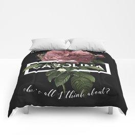 Harry Styles Carolina graphic artwork Comforters
