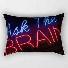 Abstract Ask The Brain Rectangular Pillow