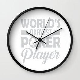 World's Okayest Poker Player Wall Clock