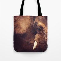 strong Tote Bags featuring Strong by DONIKA NIKOVA - Art & Design