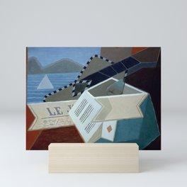 """Juan Gris """"Guitar in Front of the Sea"""" Mini Art Print"""