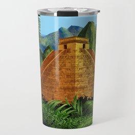 Elegant EL DORADO, City of Gold discovering - Digital painting + Collage Travel Mug