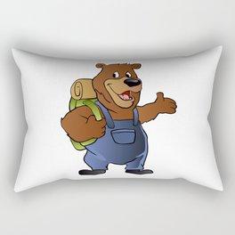 bear hiker. Rectangular Pillow