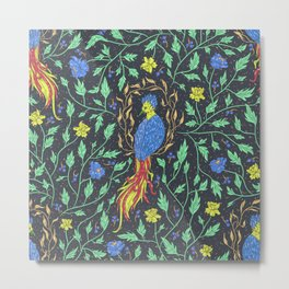 Mythical Beast 3 Color (Blue) Metal Print
