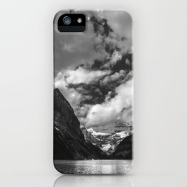 Lake Louise Black and White Minimalism Photography   Black and White   Photography iPhone Case