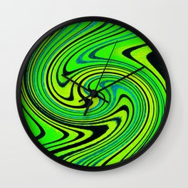 Lemon Lime Groove Watercolor Wall Clock