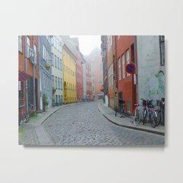 Color and Fog in Copenhagen Metal Print
