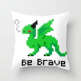 Brave Dragon Throw Pillow